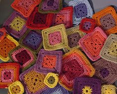 my favorite afghan pattern Babette in the making