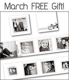 Sweet modern accordion mini album template, from Photographer Cafe.