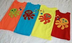 RESERVED LISTING  Set of 4 Custom Appliqued Octopus by WetBagIt, $67.96