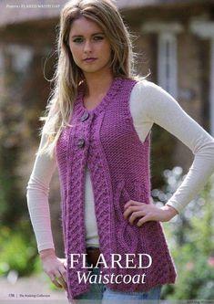The Knitting Collection 1 - 编织 Knitting Designs, Knitting Patterns Free, Knit Patterns, Crochet Ripple, Knit Crochet, Knit Vest Pattern, Knitted Flowers, Knitting Magazine, Crochet Baby Hats