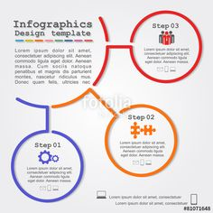 Vektor: Infographic report template with lines and icons. Vector