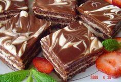 """Recipes with photos of delicious cakes. Cupcake """"Day-night"""" Cupcake """"day-night"""" breakfast afternoon snack guests Day To Make batter classic puff Czech Desserts, Sweet Desserts, Czech Recipes, Russian Recipes, Baking Recipes, Cake Recipes, Dessert Recipes, Cupcake Day, Chocolate Mix"""