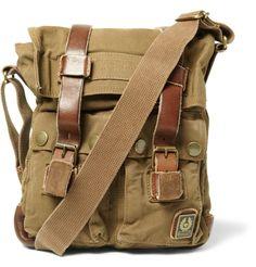 Love the Messenger bag!   Belstaff Large Leather and Canvas Messenger Bag, £196.61 @ MrPorter