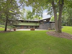 Frank Lloyd Wright Jr. designed home in Minnetonka, photographed by Spacecrafting.