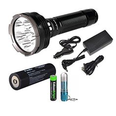 FENIX RC40 Rechargeable 6000 Lumen Cree XML2 U2 LED Flashlight Searchlight with Car  Home charger Fenix CL05 Lip light and EdisonBright AAA battery *** Visit the image link more details.