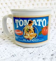 Campbells Tomato Soup COFFEE MUG Cup Bowl  | eBay