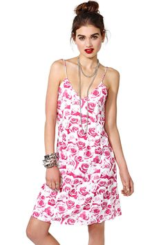 Motel Falling Roses Slip Dress | Shop Sale at Nasty Gal