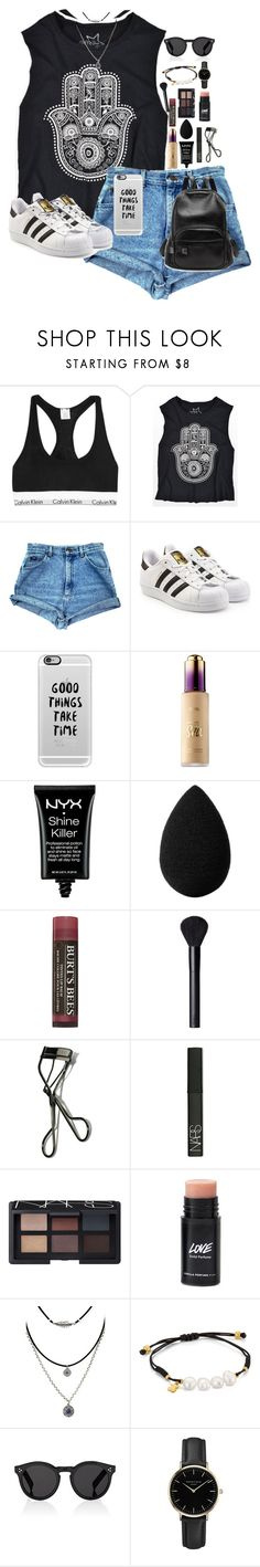 """«Cool girl»"" by lizxlol on Polyvore featuring Calvin Klein Underwear, adidas Originals, Casetify, Sephora Collection, NYX, beautyblender, Burt's Bees, NARS Cosmetics, Bobbi Brown Cosmetics and TOUS"