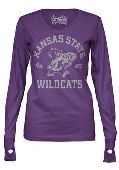 KSU Wildcats Purple Veruca Long Sleeve Tee