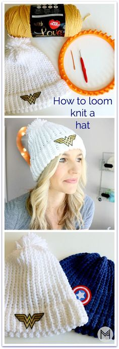 How to Loom Knit a Hat with a Hem - Beginner : Loom knit hat tutorial! How to Loom Knit a Hat with a Hem – Beginner : Loom knit hat tutorial! Step by Step instructions Round Loom Knitting, Loom Knitting For Beginners, Loom Knitting Projects, Loom Knitting Patterns, Knitting Looms, Knitting Tutorials, Knitting Loom Instructions, Arm Knitting, Hat Patterns