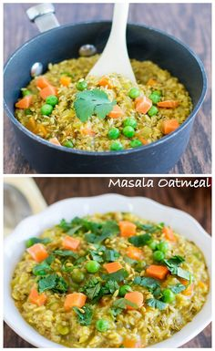 Masala Oatmeal! Quick, easy and vegan breakfast porridge with medley of Indian spices.