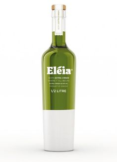 theosdesign:  Great bottle - package design for virgin olive oil from Greece called eleia (olive tree in greek). Designed by a new design st...