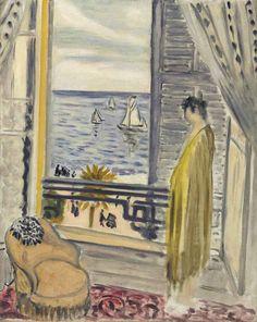 Henri Matisse (French, 1869-1954) - Femme auprès de la fenêtre, Nice (1920)