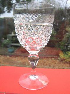 Thomas Webb Large Wine Glass HEIRLOOM Wine Water Goblet x 1 Signed in Pottery, Porcelain & Glass, Glass, Crystal/ Cut Glass | eBay