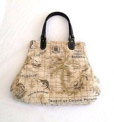 Tommy Bahama Fabric Handbag Island Song Summer by SadiesSnippets
