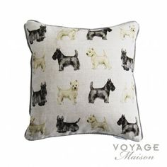 Voyage Maison Country Scottie and Westie Cushion