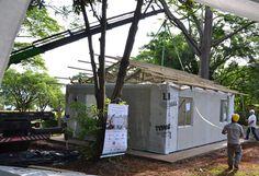 Arquitetura Sustentavel: Casa sustentável é construída em menos de três hor...