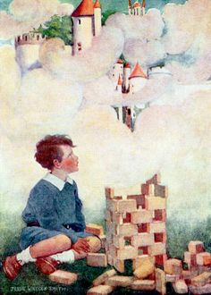 "Dream blocks. Illustration by Jessie Willcox Smith from ""Dream Blocks"" (1908)"