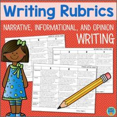Your 3rd, 4th, 5th & 6th graders will have a blast with these writing rubrics for narrative, informational & opinion writing. This is a set of scoring rubrics broken down into categories such as organization, content, word choice, sentence structure, mechanics, quality & neatness. Perfect in a classroom or home school practicing expository & essay writing. {third, fourth, fifth, sixth, grade, homeschool, rubric, assessment, upper elementary} #homeschoolinginformation