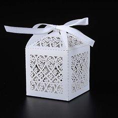 50pcs Flower Wedding Box Lace Candy Box Birthday Party Chocolate Box