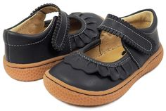 RUCHE Mary Jane (Youth) in Indigo.  When you're searching for your everyday go-to shoe, Ruche is the ticket for your sweetie. This darling youth girls' shoe is pretty enough to make her smile and simple and stylish enough to be worn on any occasion. Size 1Y - 3Y