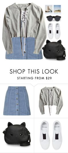 """""""Cutie Pie"""" by porcelaindolls ❤ liked on Polyvore featuring Topshop, Loungefly, Pierre Hardy, Polaroid and Le Specs"""