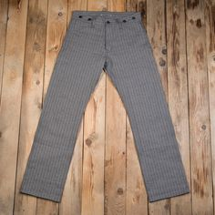 79ecf755958d3 The Pike Brothers 1942 Hunting Pant 13 oz brown wabash consists of wabash  selvage denim and was made for the life outdoors.