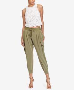 POLO RALPH LAUREN Polo Ralph Lauren Cropped Lace Cotton Tank Top. #poloralphlauren #cloth # tops