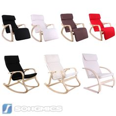 Songmics Neuf Fauteuil Berçante à Bascule Rocking Chair Chaise Relax