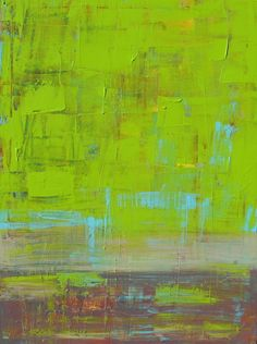 Fresh Grass, Original Abstract Acrylic Painting, 18 x 24 Palette Knife, Home Decor, Signed by the Artist. @Lisa Strong