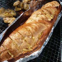 バーベキュー変わり種(フランスパンのガーリックトースト)#BBQ