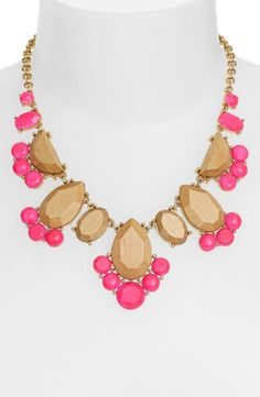 Oh this Kate Spade necklace is beautiful! Love the light wood blocks paired with pink stones.