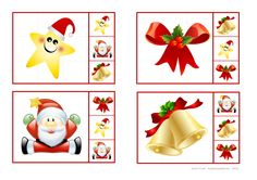 Cut out the cards and use clothpins or clips to mark the right pictures. By Autismespektrum. Christmas Activities For Kids, Christmas Games, Christmas Baby, Winter Christmas, Winter Holidays, Preschool Activities, Christmas Crafts, Merry Christmas, Advent