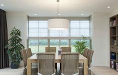 combinatie vouw en japanse gordijnen - Google zoeken Window Coverings, Window Treatments, Roman Shades, Valance Curtains, Divider, Windows, Room, Furniture, Dining Tables