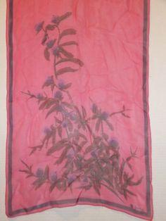 Vera-Neumann-dark-pink-sheer-floral-silk-scarf