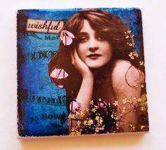 "Sassy Lady ""Wishful"" 1 3/4"" square Ceramic Tile Refrigerator Magnet Laughing Apple Designs #00014 Awesome Designs, Street Furniture, Home Decor Bedroom, Home And Living, Great Places, Random Things, Sassy, Laughing, Tile"