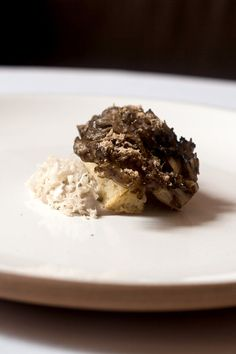 Hen-of-the-woods mushroom roasted with horseradish at Eleven Madison Park.