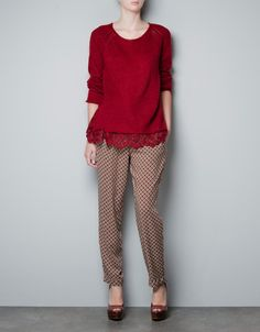 Ref. 0367/894  MOHAIR SWEATER WITH LACE TRIMMINGS