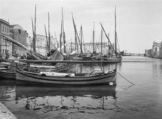 Bateaux de pêche dans le port de Bizerte en Tunisie, 1925, René Prouho