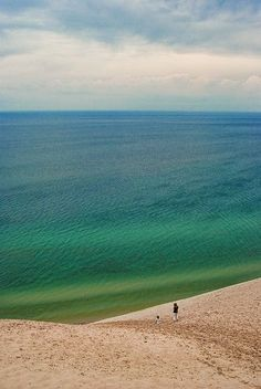 sleeping bear dunes. traverse city, MI #wanderlust #travel #bucketlist Looking for more inspiration and travel guides to save you time on trip planning? Check out www.champagneflight.com