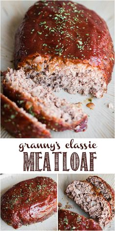 The best easy meatloaf recipe you can make using ground beef and a tasty meatloaf sauce on top is Granny's Classic Meatloaf. The best easy meatloaf recipe you can make using ground beef and a tasty meatloaf sauce on top is Granny's Classic Meatloaf. Southern Meatloaf Recipe, Best Easy Meatloaf Recipe, Homemade Meatloaf, Classic Meatloaf Recipe, Meat Loaf Recipe Easy, Best Meatloaf, Recipe Tasty, Meatloaf Recipe No Bread Crumbs, Recipes