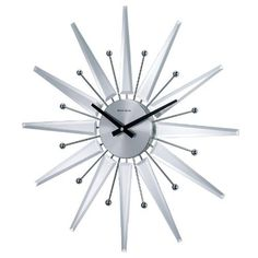Telechron Mirrored Starburst Clock Silver * Find out more about the great product at the image link.