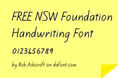 Link to a free download of the nsw foundation style handwriting font finally a free nsw foundation handwriting font by rob ashcroft on dafont fandeluxe Image collections