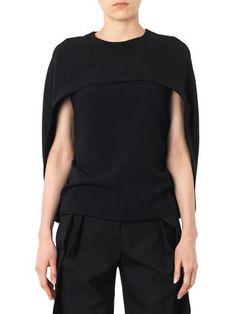 Balenciaga Cady cape-top