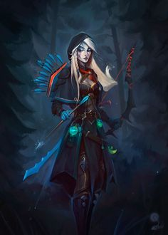 Artist Igor Artyomenko reimagined Crystal Maiden, Traxex the Drow Ranger, Windrunner and Lina the Slayer from Dota 2 and they now actually look like characters with personality. Especially love Windrunner and that piece's color palette.