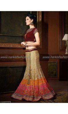 #Designer #Lehenga Tanya Beige #SoExclusive 180€ taille 34 à 44 #Sari #Robe #Indienne #Mariage #Wedding