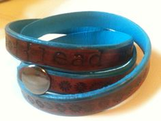 Leather Wrap Bracelet 'lead me to the cross' by GratifyDesign, $25.00