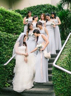 Simple but Elegant Bridesmaid Gowns | http://brideandbreakfast.ph/2015/07/27/regal-beauty/ | Photo: J Lucas Reyes