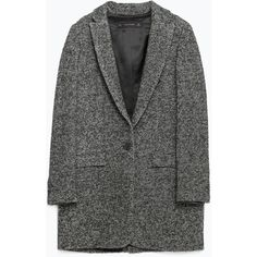 Zara Oversize Wool Blazer ($40) ❤ liked on Polyvore featuring outerwear, jackets, coats, coats & jackets, blazers, blazer jacket, wool blazer, zara blazer and oversized blazer