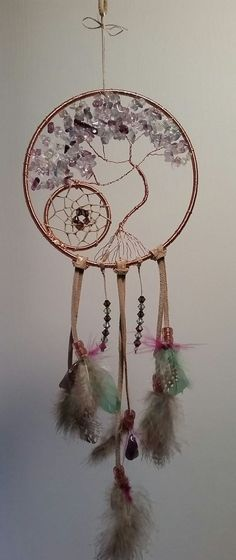 Trendy Tree Of Life Dream Catcher Diy Ideas Dreams Catcher, Sun Catcher, Los Dreamcatchers, Diy And Crafts, Arts And Crafts, Creation Deco, Wire Art, String Art, Tree Of Life